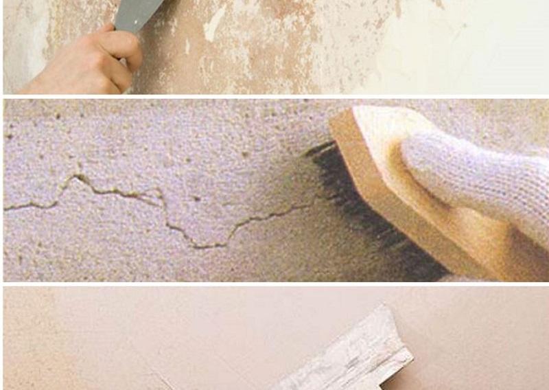 Xử lý bề mặt sạch sẽ là một bước quan trong trong biện pháp thi công sơn nước
